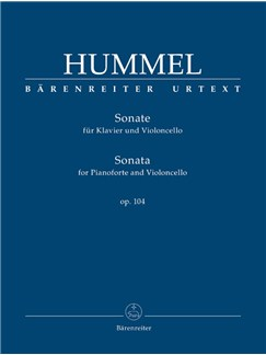 J. N. Hummel: Sonata For Piano And Violoncello Op.104 Books | Cello, Piano Accompaniment