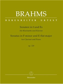 J. Brahms: Sonatas In F Minor And E-Flat Op.120 (Clarinet And Piano) Books | Clarinet, Piano Accompaniment