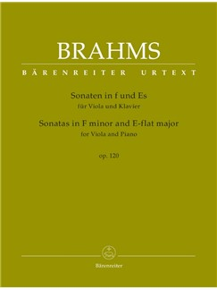 Brahms: Sonatas In F Minor And E-Flat For Viola And Piano Op.120 Books | Viola, Piano Accompaniment
