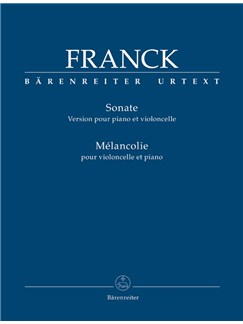 C. Franck: Sonata In A And Melancolie For Cello And Piano Libro | Cello, Acompañamiento de Piano