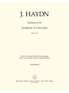 J Haydn: Symphony No.91 In E-Flat Hob.I:91 (Double Bass) Books | Double Bass