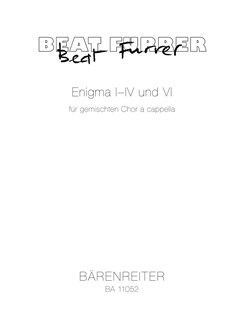 Enigma I-IV And VI (2006-2013) Books | Choral