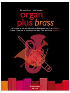 Organ Plus Brass: Volume 1 (Score And Wind Score) Books | Brass Ensemble, Organ