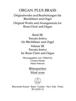 Organ Plus Brass Volume 3: Toccata Festiva (Wind Score) Books | Brass Instruments