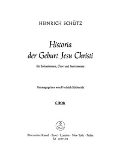 H. Schütz: Historia Der Geburt Jesu Christi - Christmas Story SWV 435 (Choral Score) Books | Choral