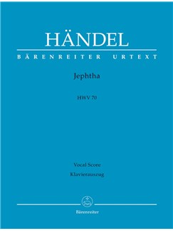 G. F. Handel: Jephta HWV 70 (Vocal Score) Books | Orchestra