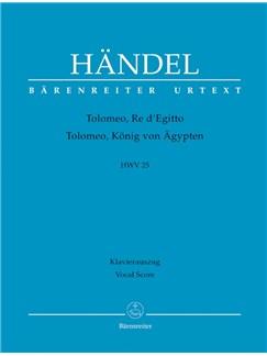 G. F. Handel: Tolomeo, Re Di Egitto HWV 25 (Vocal Score) Books | Opera