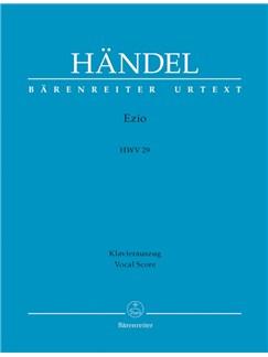 G. F. Handel: Ezio HWV 29 (Vocal Score) Books | Opera