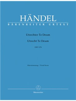 Utrecht Te Deum HWV278 Vocal Score (Eng) Books | Choral, Orchestra