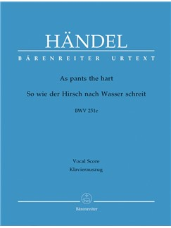 G. F. Handel: As Pants The Hart HWV 251e Chapel Royal Anthem (Vocal Score) Books | Orchestra, SATB