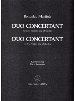 B. Martinu: Duo Concertant (2 Violins And Piano) Books | Violin, Piano Accompaniment