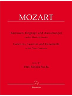 W.A. Mozart/Paul Badura-Skoda: Cadenzas, Lead-Ins And Ornaments To The Piano Concertos Libro | Piano