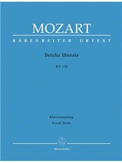 W. A. Mozart: Betulia Liberata K.118 (Vocal Score) Books | Opera