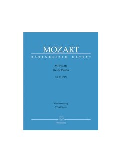 W.A. Mozart: Mitridate Re Di Ponto KV.87 Libro | Voz, Soprano, Alto, Tenor, Acompañamiento de Piano, Coral