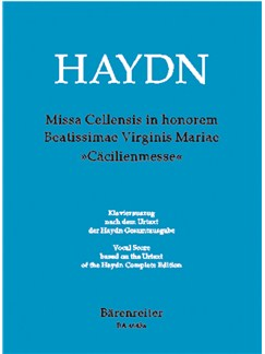 J. Haydn: Missa Cellensis (Cecilia Mass) Hob.XXII:5 (Vocal Score) Books | Choral, Orchestra