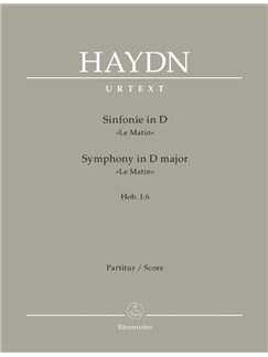 "Joseph Haydn: Symphony No.6 In D Hob.I:6 ""Le Matin"" (Full Score) Books 