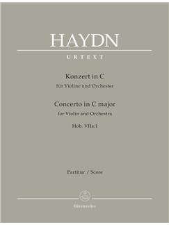 Joseph Haydn: Concerto For Violin In C (Hob.VIIa:1) Full Score Books | Orchestra