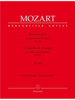 Wolfgang Amadeus Mozart: Concerto for Piano No.23 in A (K.488) (Urtext). Books | Orchestra