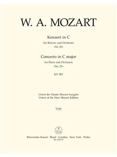 W.A. Mozart: Piano Concerto No.25 In C K.503 (Viola) Books | Orchestra, Piano