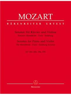 W.A. Mozart: Sonatas For Violin & Piano -The Mannheim, Paris, Salzburg Sonatas Books | Violin, Piano Accompaniment