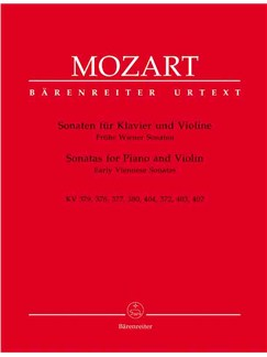 W.A. Mozart: Sonatas For Violin And Piano (Barenreiter Urtext Edition) Books | Violin, Piano Accompaniment