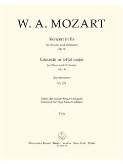 W.A. Mozart: Piano Concerto No.9 In E-Flat K.271 - Jeunehomme (Viola) Books | Orchestra, Piano