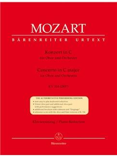 W.A. Mozart: Oboe Concerto In C K.314 (Oboe & Piano) Books | Oboe, Orchestra