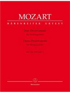 W.A. Mozart: Three Divertimenti KV136-138 (Barenreiter Urtext Edition) Books | String Quartet