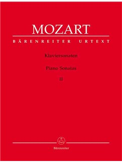W.A. Mozart: Piano Sonatas - Volume 2 (Barenreiter Urtext Edition) Books | Piano