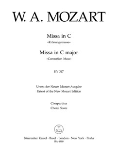 W. A. Mozart: Mass In C K.317 Coronation Mass (Choral Score) Books | SATB