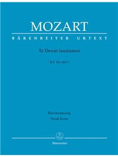 W. A. Mozart: Te Deum Laudamus In C K.141 (Vocal Score) Books | Orchestra