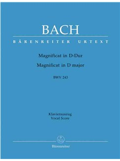 J.S. Bach: Magnificat In D BWV 243 - Vocal Score (Barenreiter Urtext Edition) Books | SSATB, Piano Accompaniment