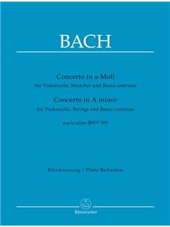 Concerto For Violoncello In A Minor After BWV 593 Books | Cello, Piano Accompaniment