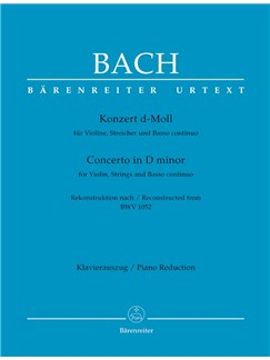 J.S. Bach: Violin Concerto In D Minor - Reconstructed From BWV 1052 (Violin And Piano) Books | Violin, Piano Accompaniment