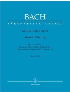 J.S. Bach: Musical Offering BWV 1079 Book 1 (Barenreiter Urtext Edition) Books   Harpsichord (Pianoforte)