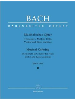 J.S. Bach: Musical Offering Vol. II Books | Flute, Violin, Bass Clef Instruments