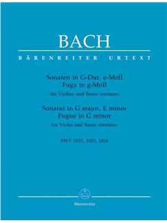 J.S. Bach: 2 Sonatas For Violin G Bwv 1021 E Min Bwv 1023 Urtext Libro | Violín