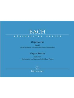 J.S. Bach: Organ Works - Volume 7 (Barenreiter Urtext Edition) Books | Organ