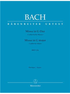 J.S. Bach: Mass in G major BWV 236 Lutheran Mass 4 (Choral Score) Books | Choral, Orchestra