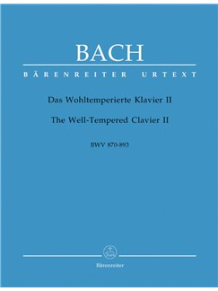 J.S. Bach: The Well-Tempered Clavier II - 48 Preludes And Fugues BWV 870-893 Books | Piano
