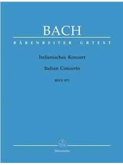 Johann Sebastian Bach: Italian Concerto BWV 971 - Barenreiter Urtext Books | Piano