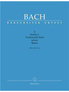 J.S. Bach: Suites (6) for (BWV 1007 - 1012) (Urtext). 3 volume edition: music, text (Eng), 5 facsimiles. Books | Cello