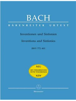 J.S. Bach: Inventions & Sinfonias (BWV772-801)  (Urtext). Books | Piano