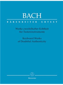 J.S. Bach: Keyboard Works Of Doubtful Authenticity Books | Piano