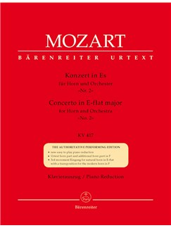 Wolfgang Amadeus Mozart: Concerto for Horn No.2 in E-flat (K.417) (Urtext). Books | Piano