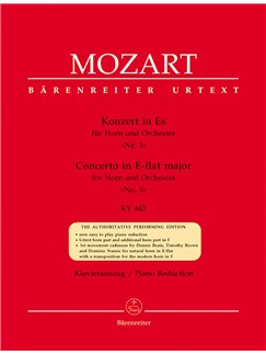 W.A. Mozart: Horn Concerto No.3 In E Flat K.447 Books | Horn, Piano Accompaniment