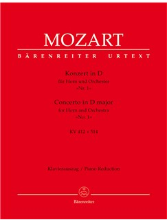 W.A. Mozart: Horn Concerto No.1 In D K.412 (Horn/Piano) Books | Horn, Piano Accompaniment