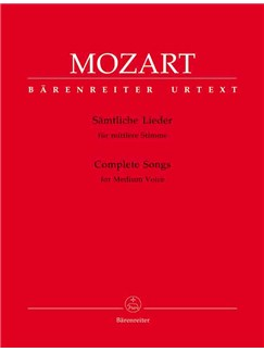 W.A. Mozart: Complete Songs for Medium Voice & Piano Books | Medium Voice, Piano Accompaniment
