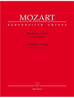 W.A. Mozart: Complete Songs for High Voice & Piano Books | High Voice, Piano Accompaniment