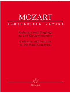 W.A. Mozart: Cadenzas And Lead Ins To The Piano Concertos (Urtext) Books | Piano